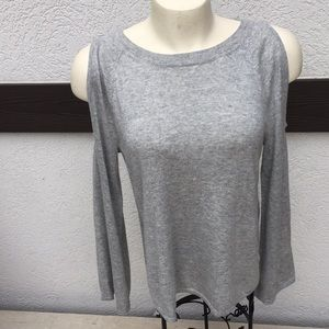 NWT Gap cold shoulder sweater small grey